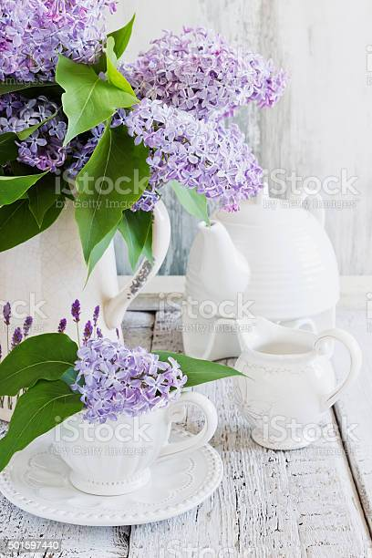 Fresh Bouquet Of Lilac Stock Photo - Download Image Now