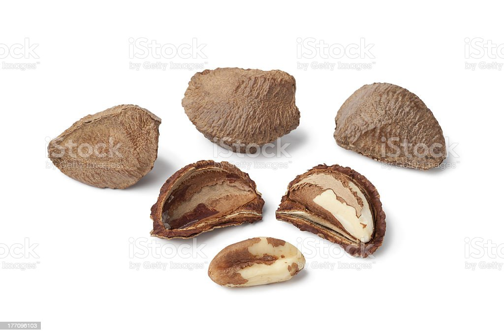 Fresh Brazil nuts stock photo