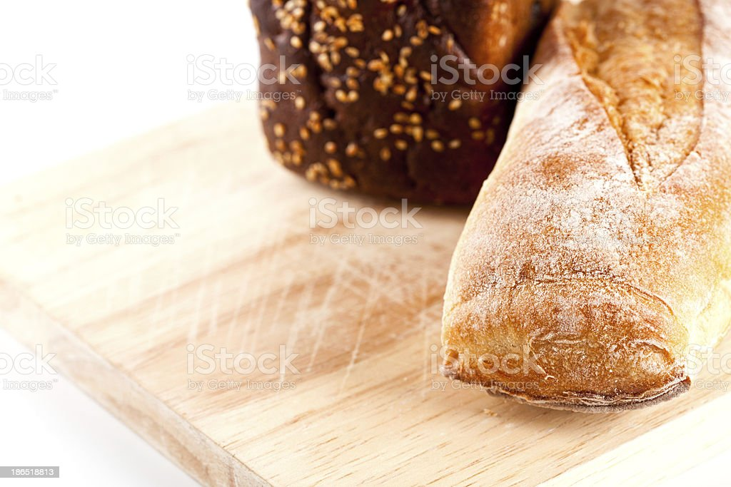 fresh bread and baguette royalty-free stock photo