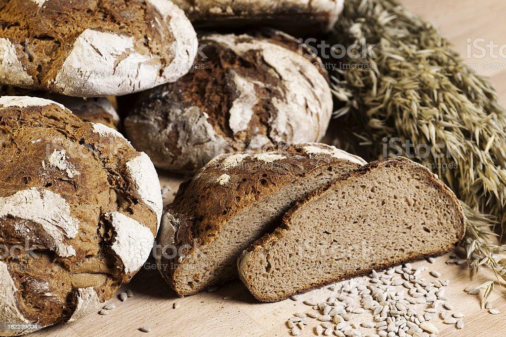 Fresh bread and corn royalty-free stock photo