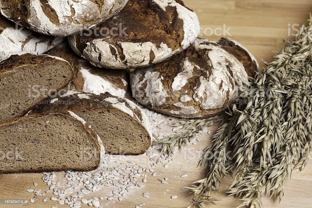 Fresh bread and wheat royalty-free stock photo