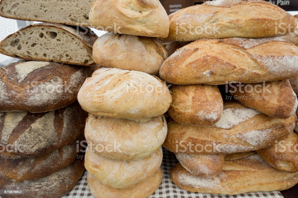 Fresh Bread at a Food Festival royalty-free stock photo
