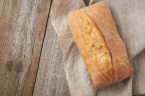 신선한 빵입니다. ciabatta - 치아바타 빵 뉴스 사진 이미지