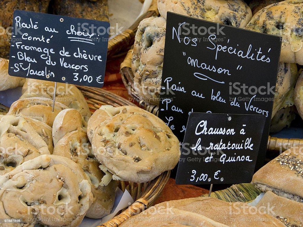 Fresh Bread in Provence stock photo