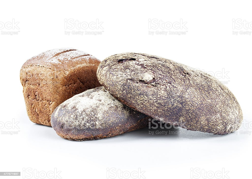 fresh bread isolated on white background royalty-free stock photo