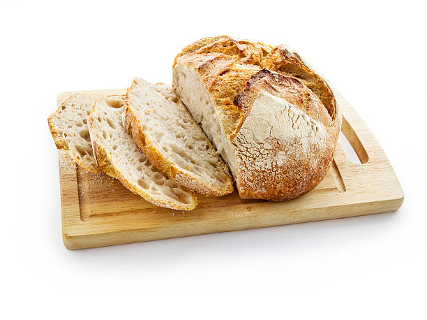 fresh bread clipping path included round loaf stock pictures, royalty-free photos & images