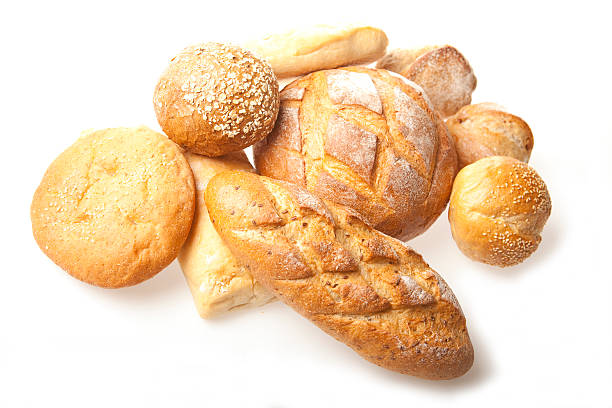 Fresh Bread A background of fresh bread. round loaf stock pictures, royalty-free photos & images
