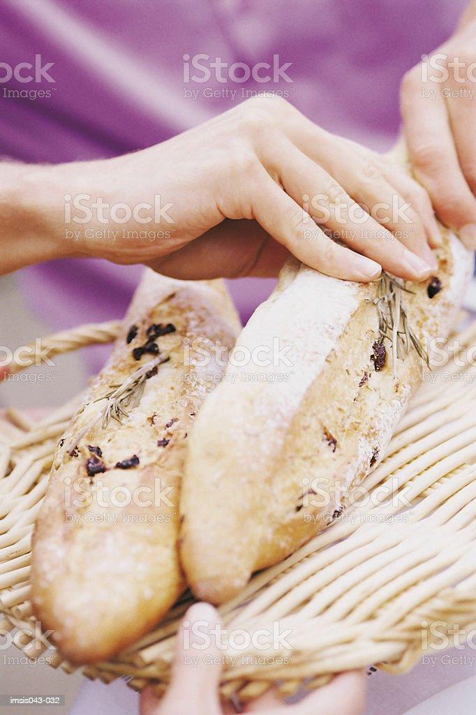 Pan recién foto de stock libre de derechos