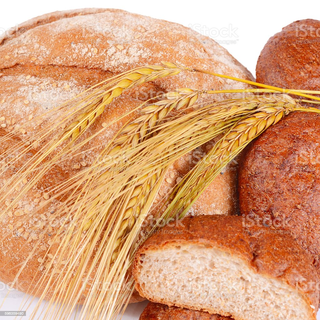 Fresh bread with ears a rye royalty-free stock photo