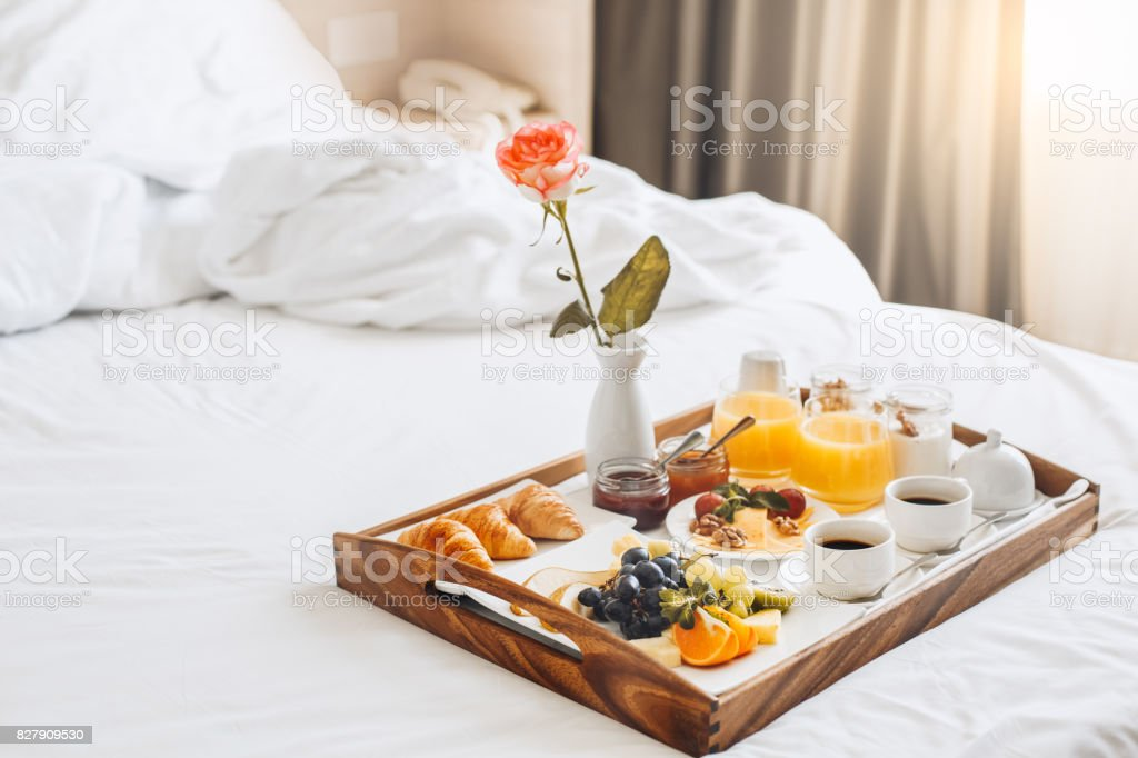 Healthy meal isolated no people hotel service