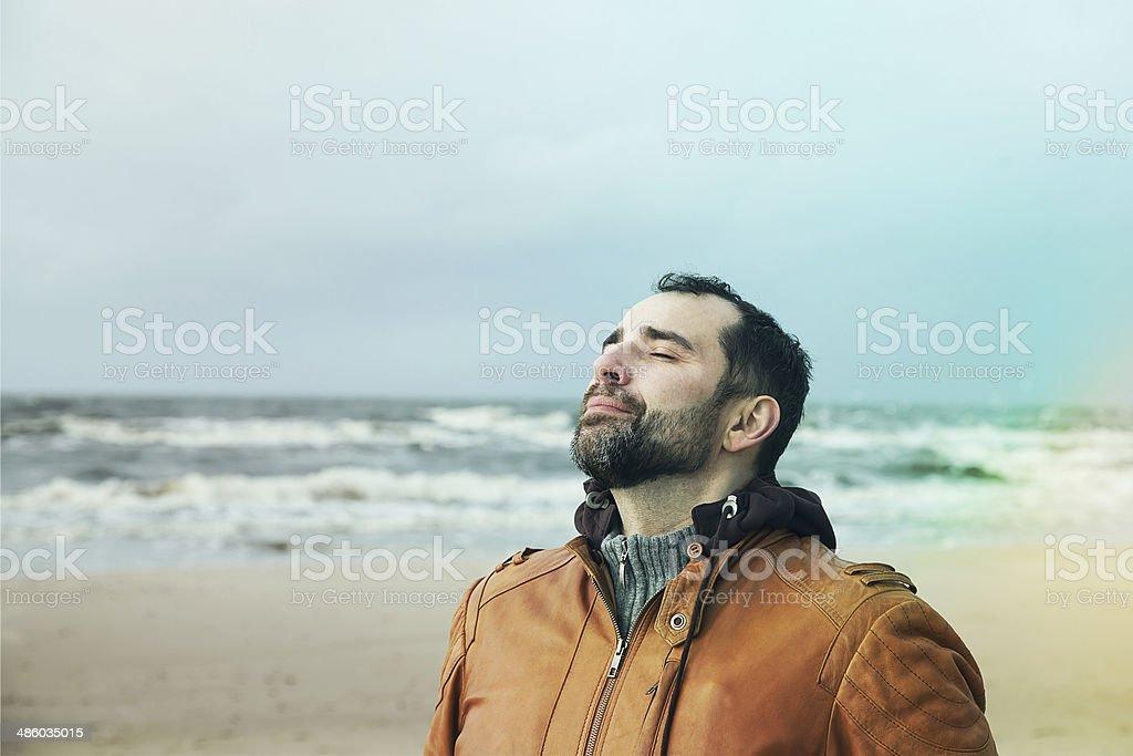 Fresh breath stock photo