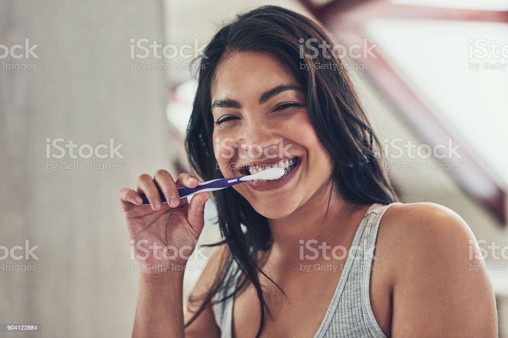 Fresh breath to start off a new day stock photo