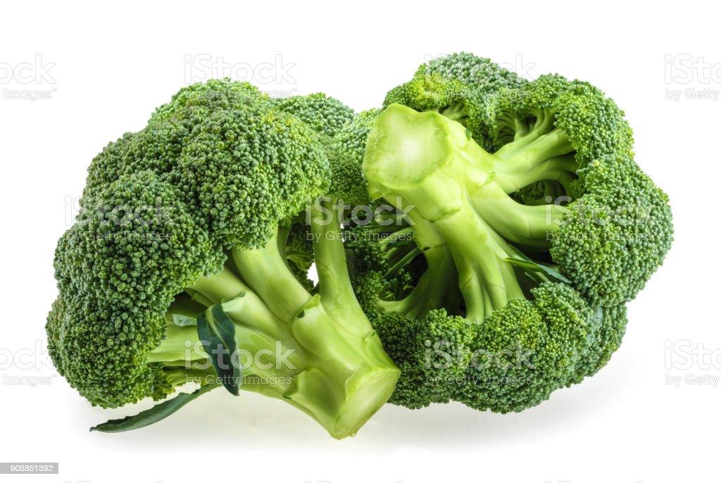 Fresh broccoli isolated on white background stock photo