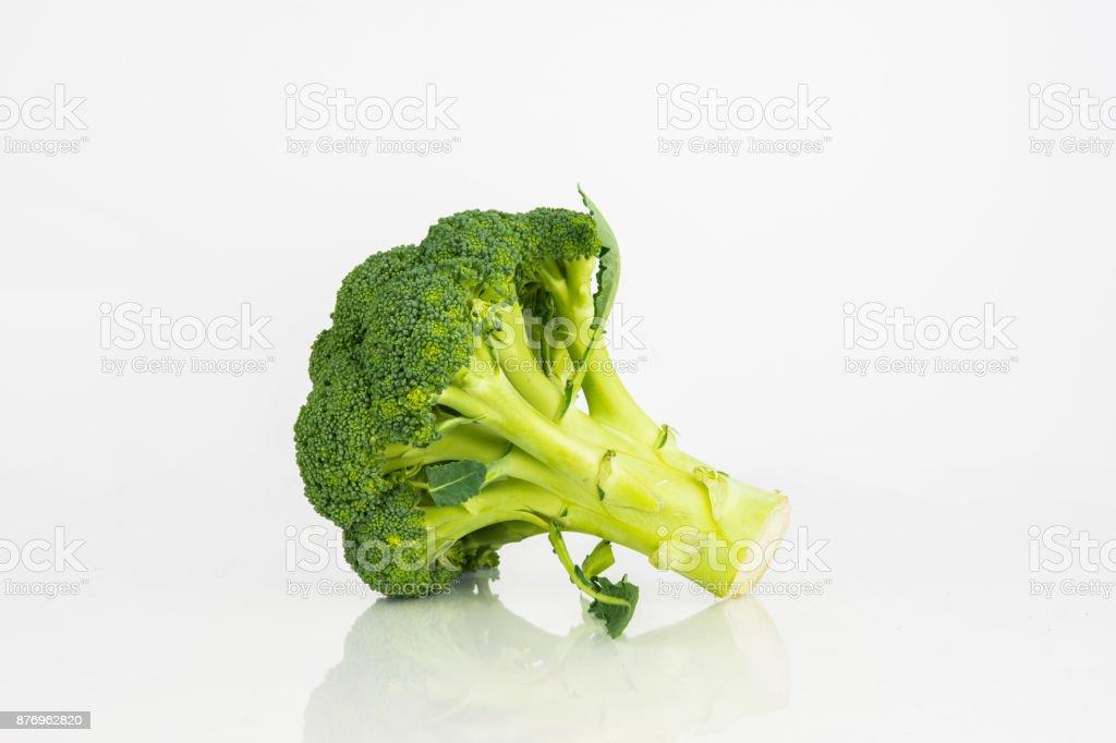 Fresh Broccoli Vegetable On White Background stock photo