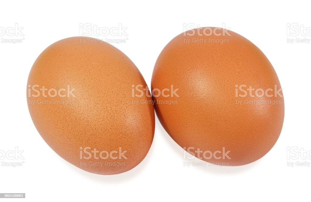 Fresh Brown Chicken Eggs on White Background - Zbiór zdjęć royalty-free (Bez ludzi)