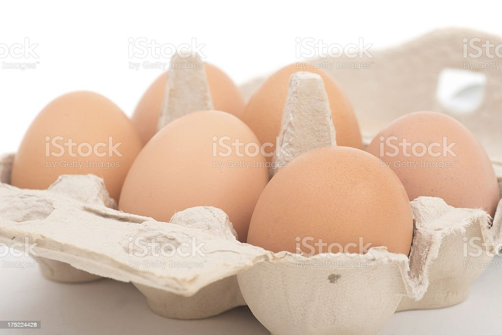 fresh brown eggs for breakfast royalty-free stock photo
