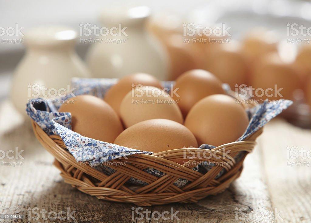 fresh brown eggs royalty-free stock photo