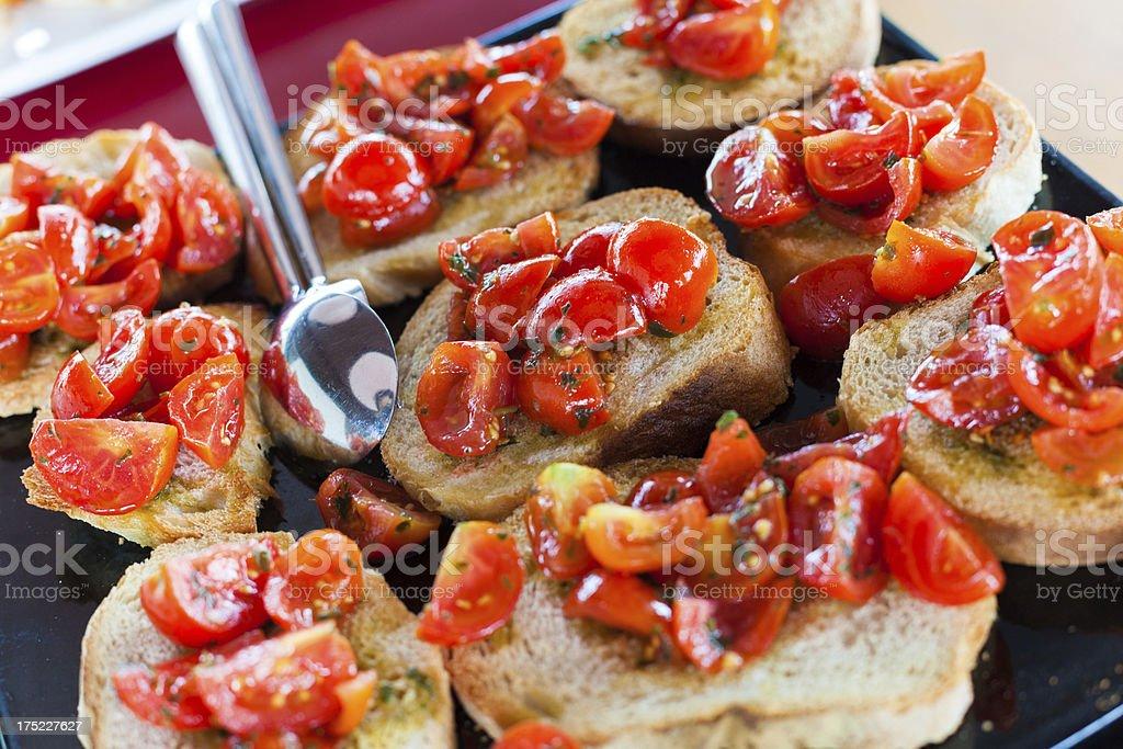 Свежие Брускетта с томатный стоковое фото