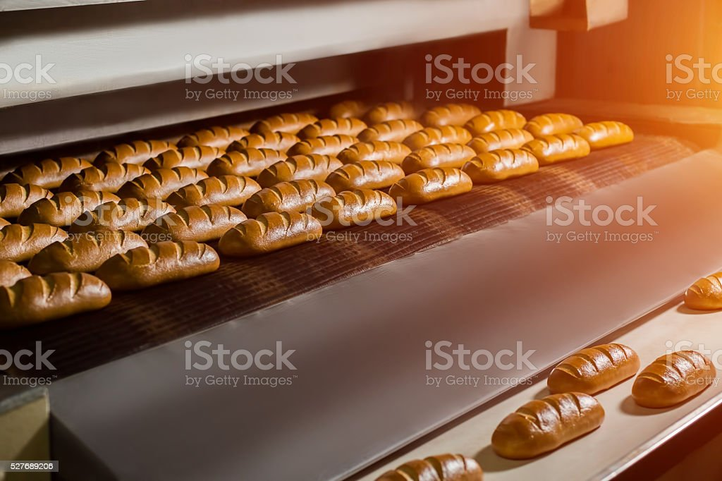 Fresh buns from the oven. stock photo