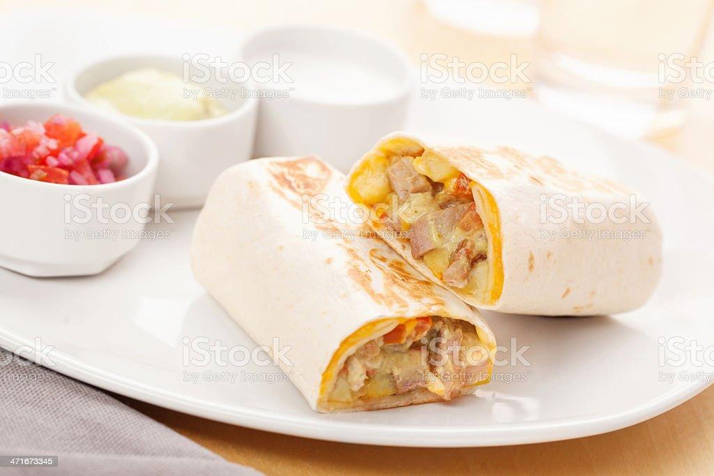 Fresh burrito stock photo