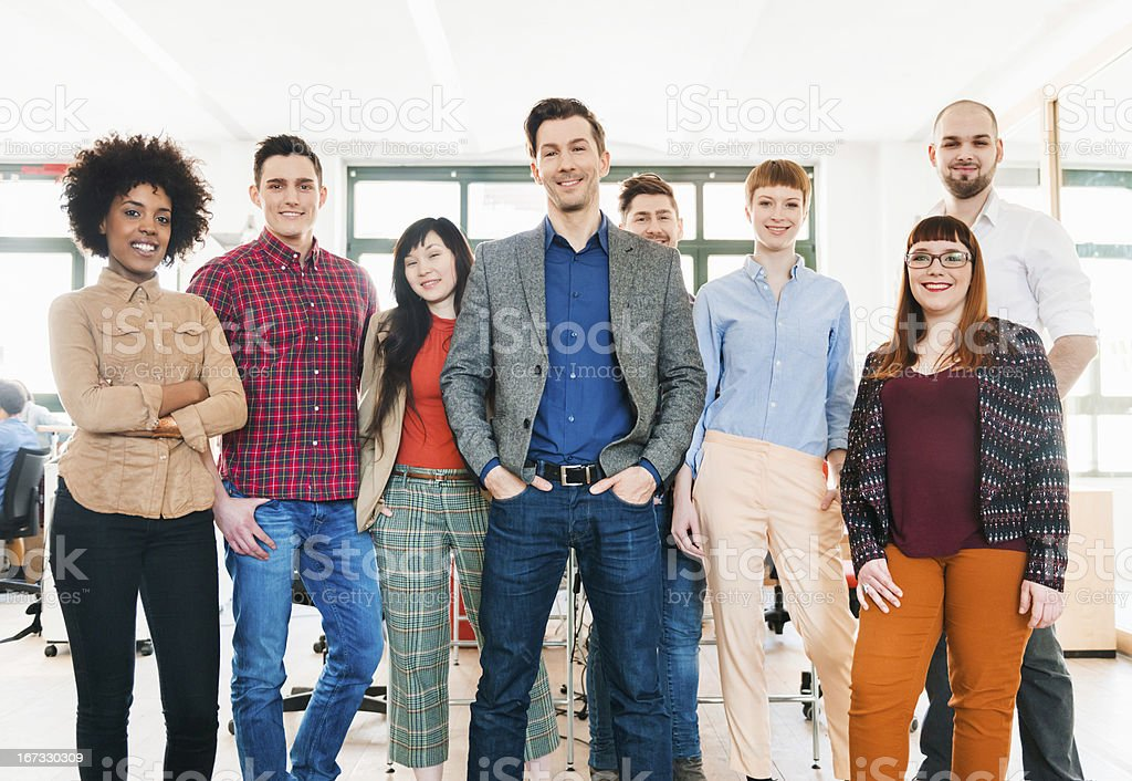 Fresh Business Team in Berlin, Germany. royalty-free stock photo