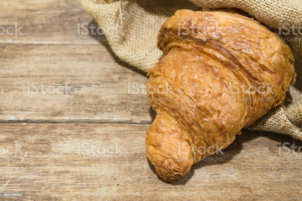 fresh butter croissant stock photo