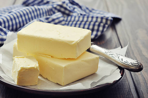 Fresh butter stock photo