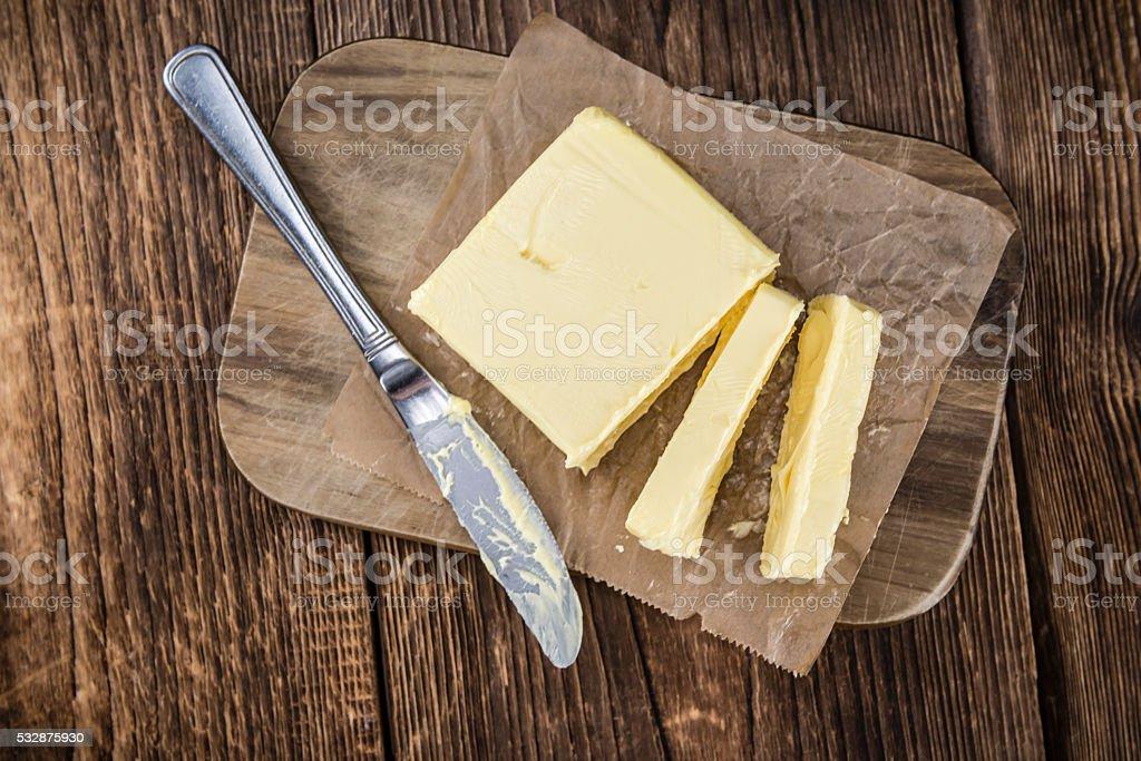 Mantequilla fresca (Enfoque diferencial; foto) - Foto de stock de Alimento libre de derechos