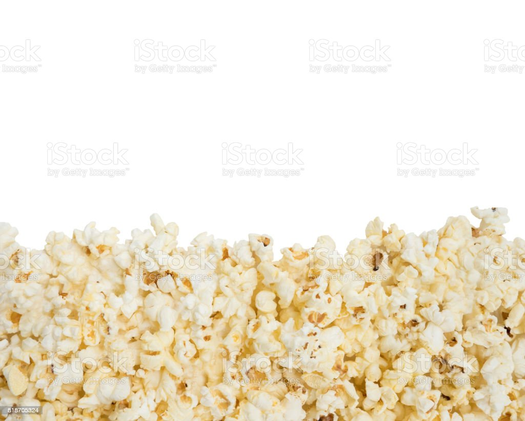 Fresh butter popcorn with the copy space. stock photo
