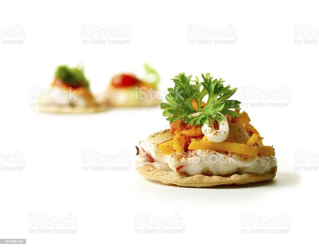 Fresh Canape stock photo
