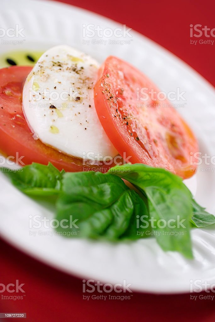 Fresh Caprese Salad stock photo