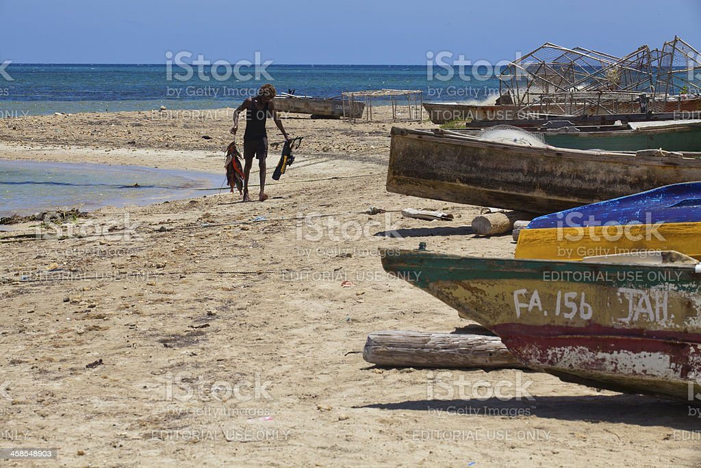 Fresh Caribbean fish stock photo