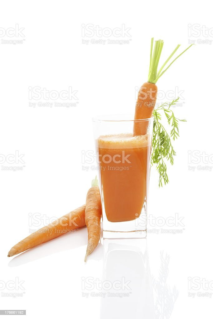Fresh carrot juice isolated. royalty-free stock photo