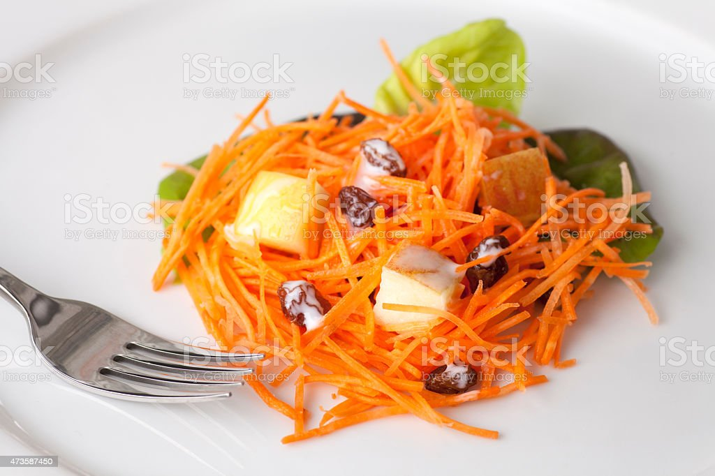 Fresh Carrot Salad stock photo