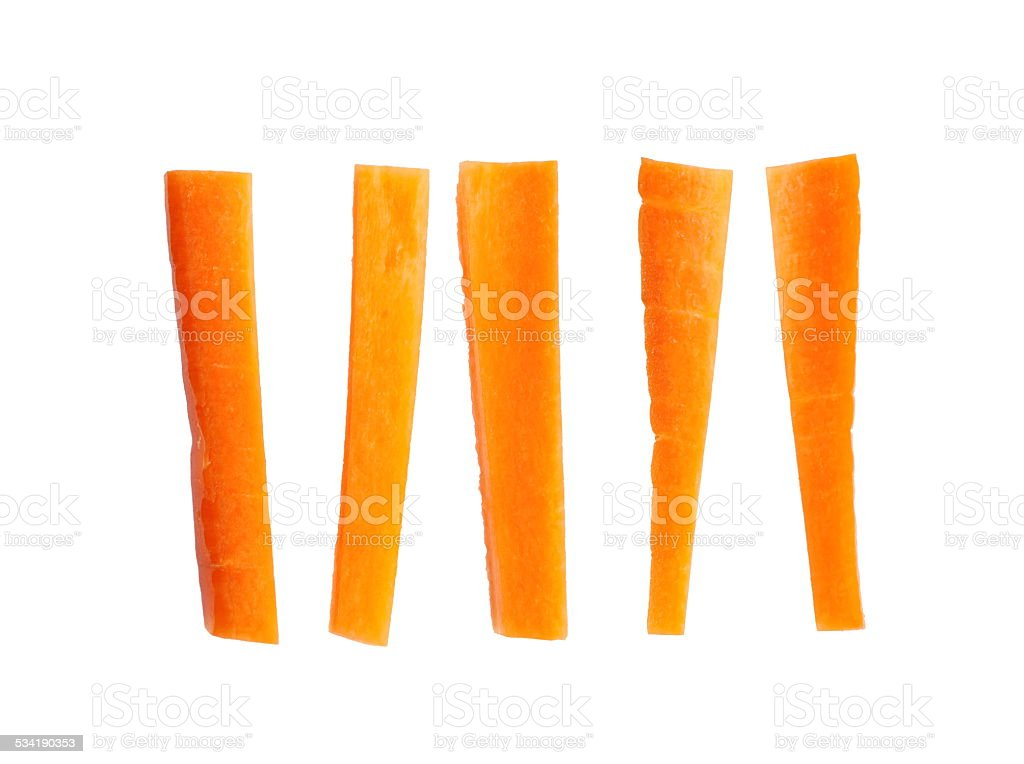Fresh carrot slice isolated on a white background stock photo