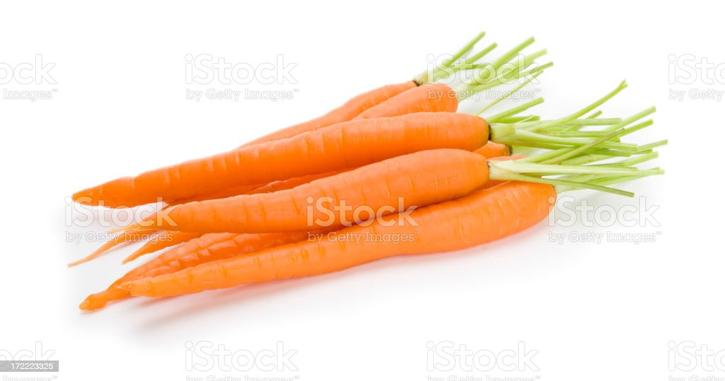 Fresh Carrots Isolated on a White Background stock photo