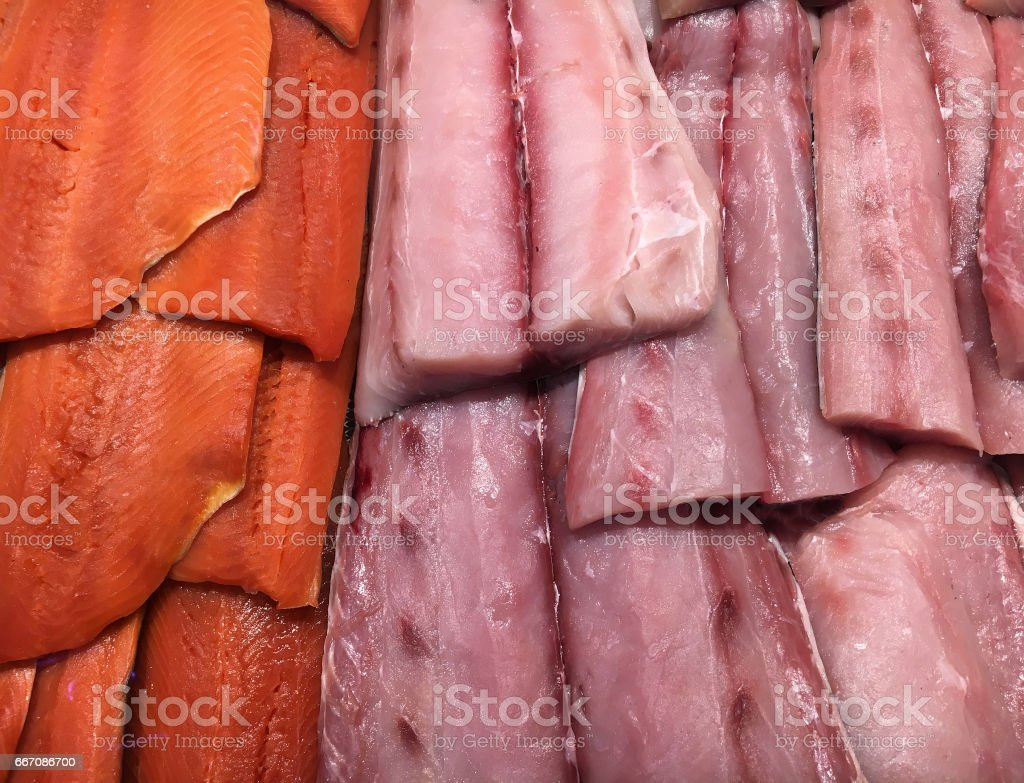 Fresh catch of the day stock photo