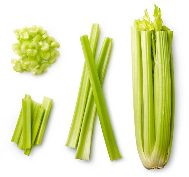 Fresh celery isolated on white stock photo