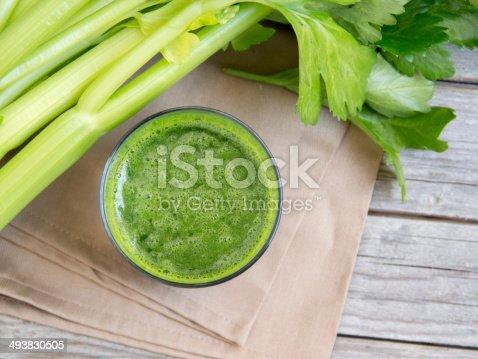 Fresh celery smoothy juice