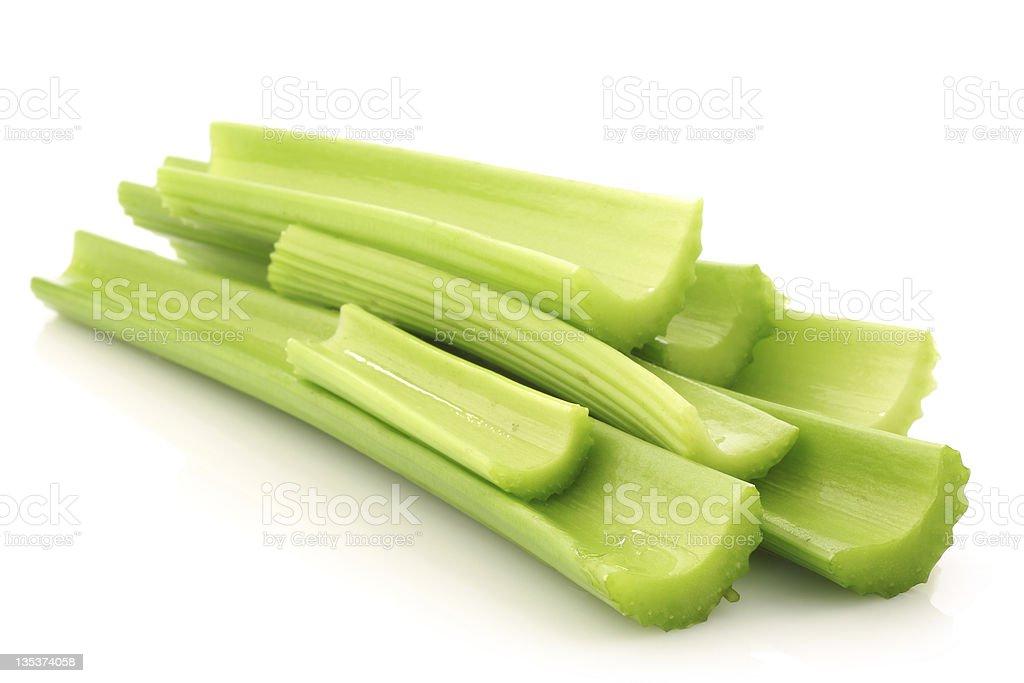 fresh celery stems stock photo