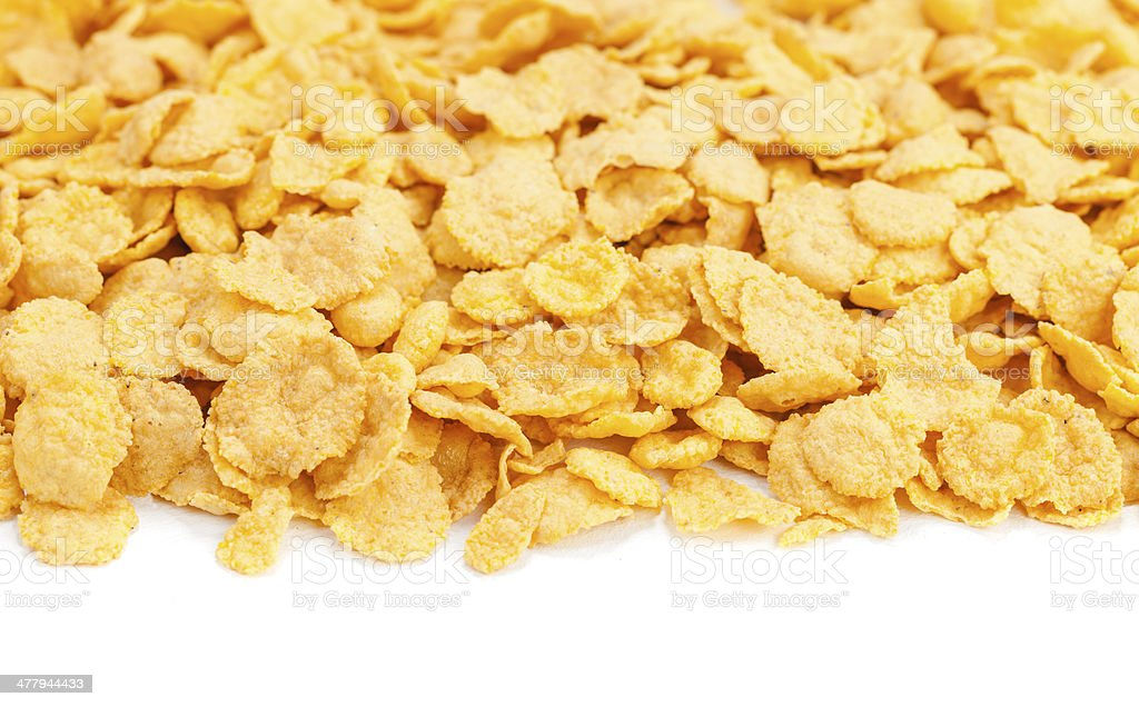 fresh cereal cornflakes and milk royalty-free stock photo
