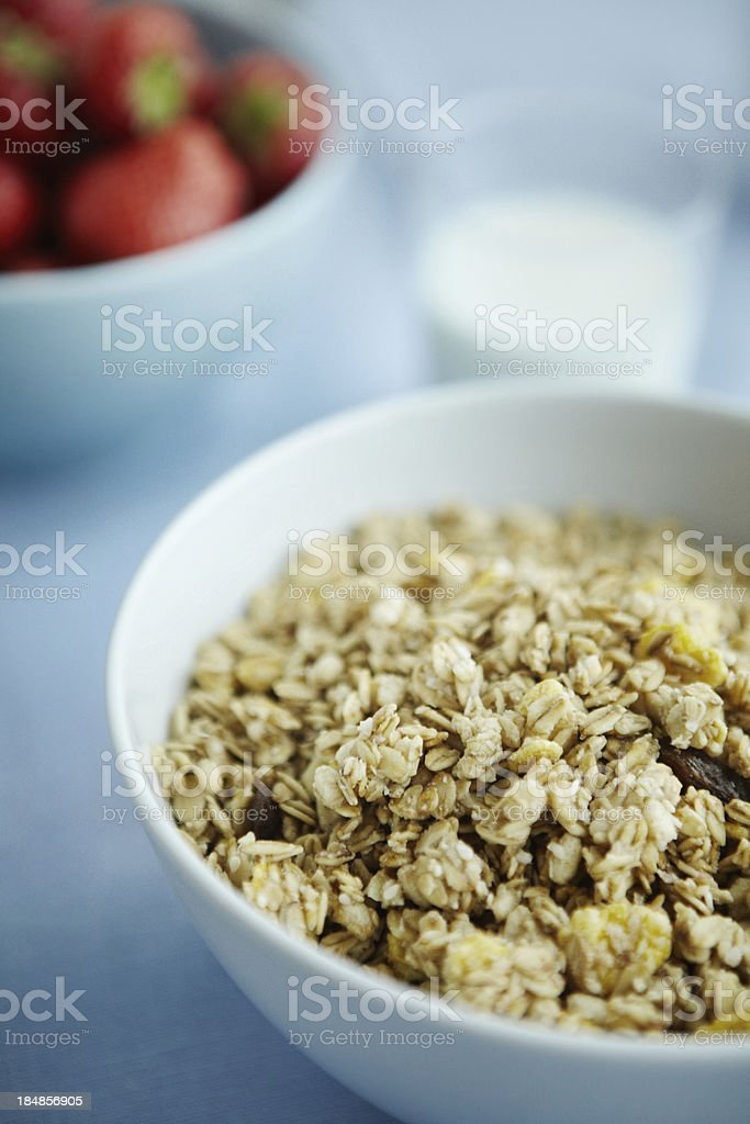 Fresh cereal in a bowl royalty-free stock photo