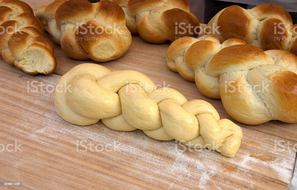 Fresh Challah Bread stock photo