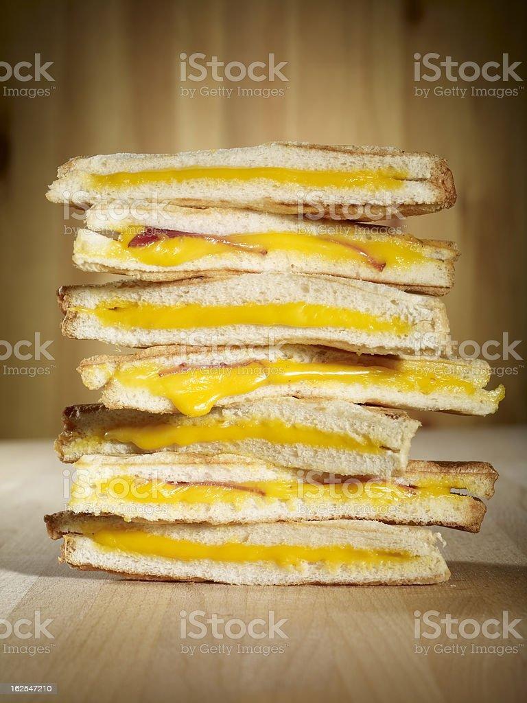 Fresh cheese toast royalty-free stock photo