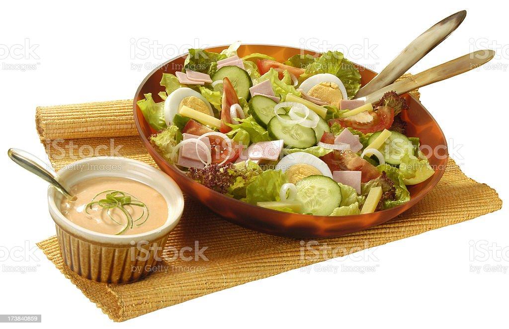 Fresh chef's salad stock photo