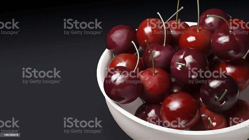 fresh cherries dark background royalty-free stock photo