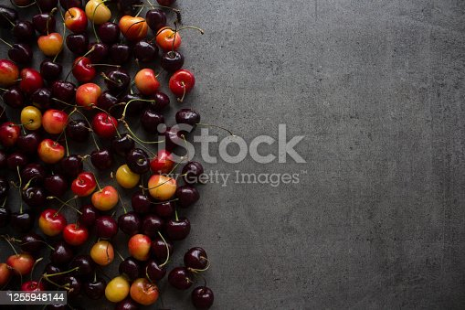 517278430 istock photo Fresh cherry on a table. Summer is here! 1255948144