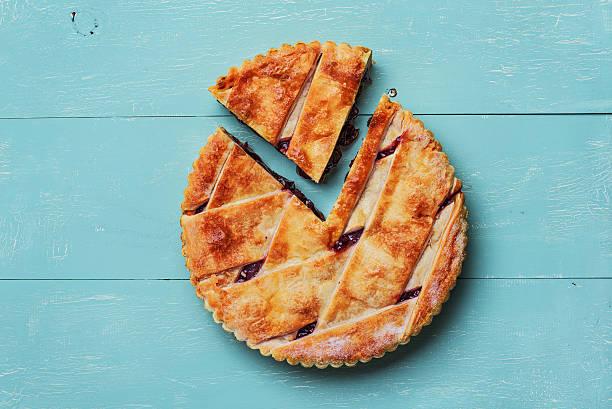Fresh cherry pie stock photo