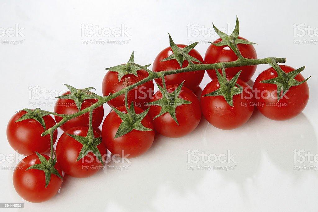 Fresh cherry tomatoes royalty-free stock photo