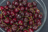 Fresh cherry's in close up